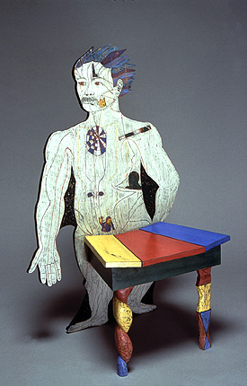 art chair with figure